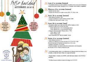 programa actividades Navidad-2018